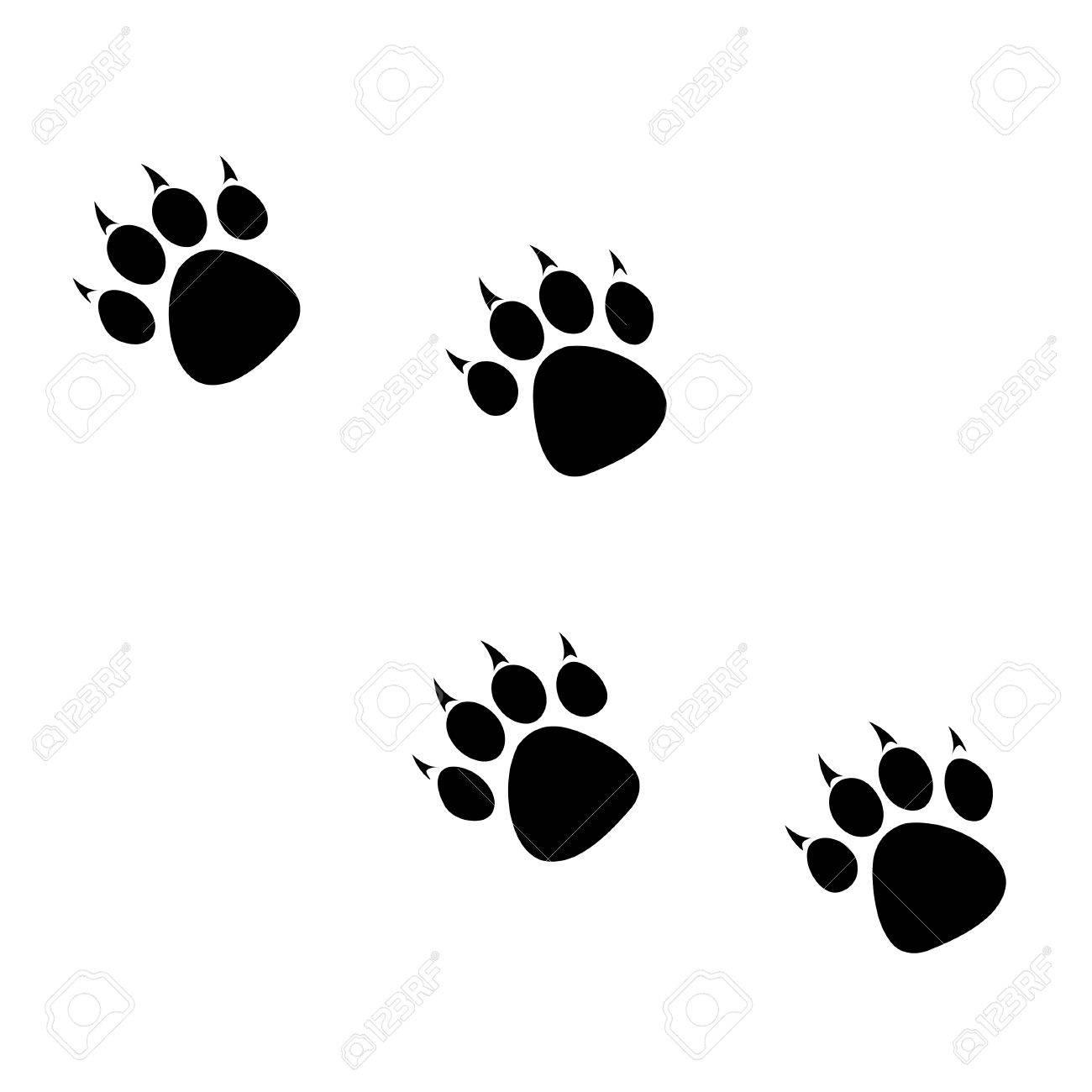 Footprints clipart tiger.