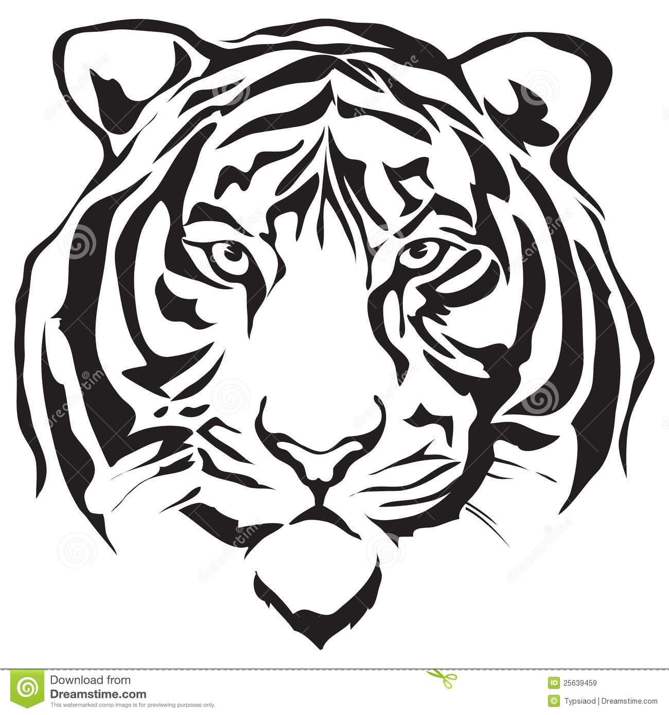 94+ Tiger Head Clipart.