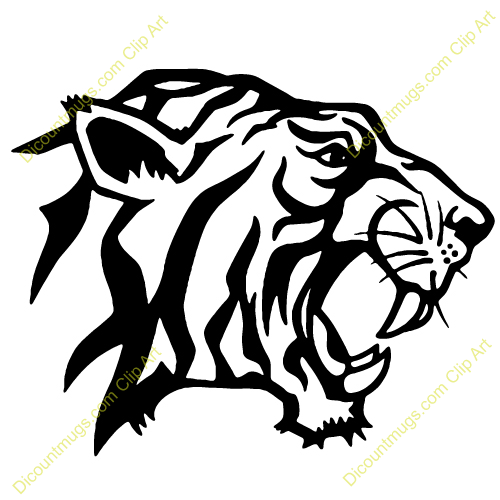 this Tiger Head Clip Art..