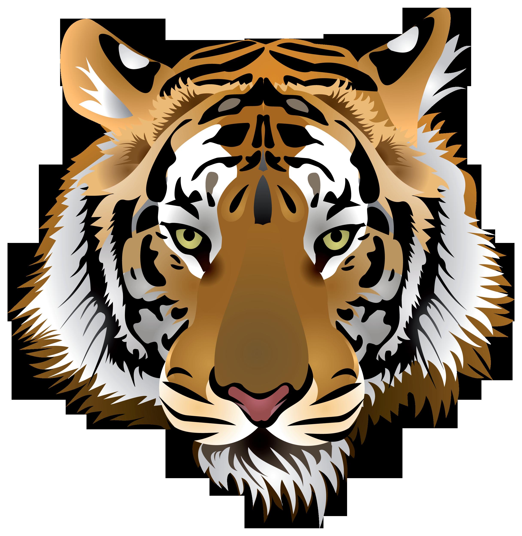 Tiger Head PNG Clip Art.