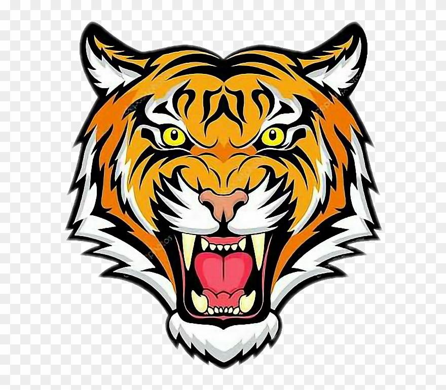 Clipart Tiger Roaring.