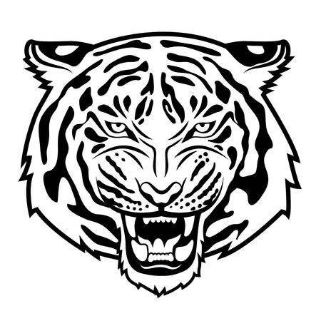 Tiger head clipart black and white » Clipart Portal.