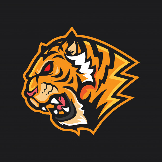 Tiger head logo mascot Vector.