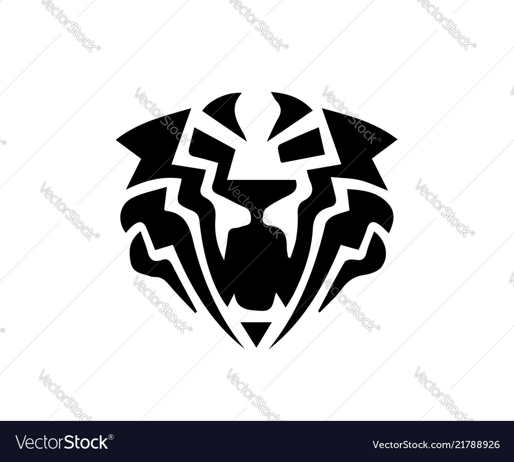 Tiger head logo.