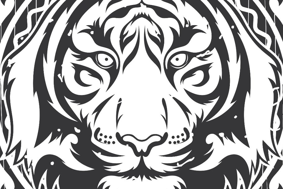 Tiger Vector + frame.
