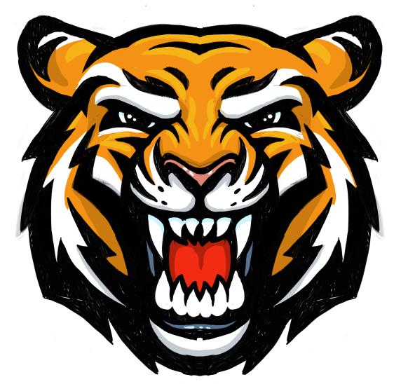 Head tiger png clipart #39191.