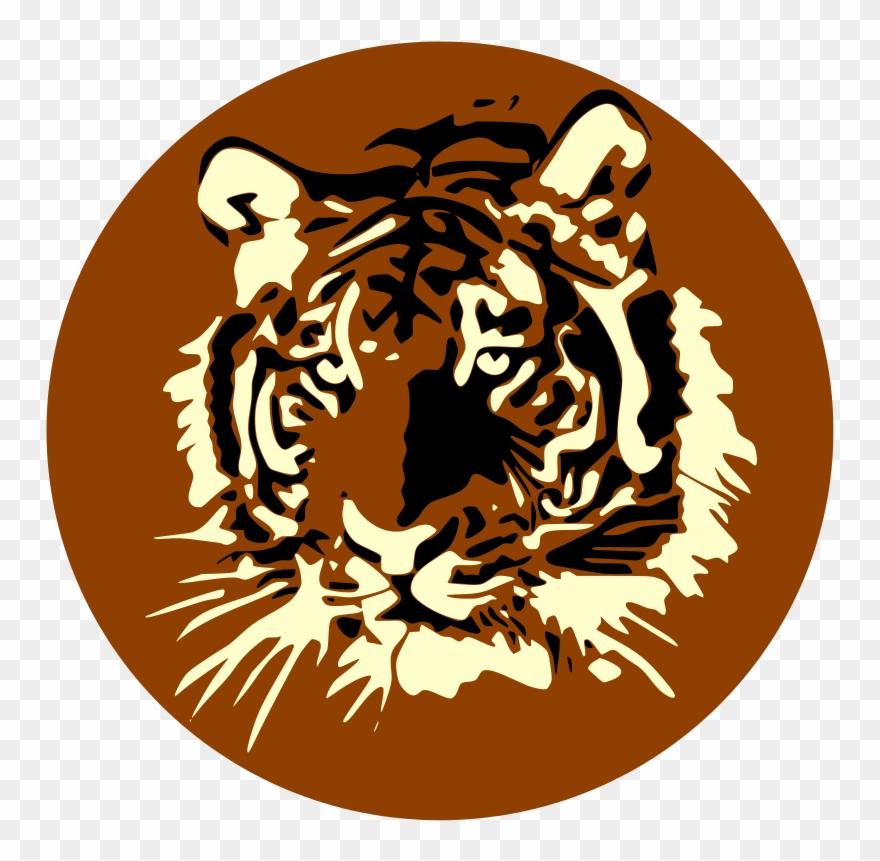 Tiger Face Clip Art N20.