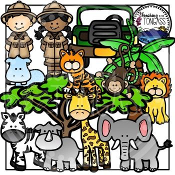 Jungle Clipart (Zoo Clipart).
