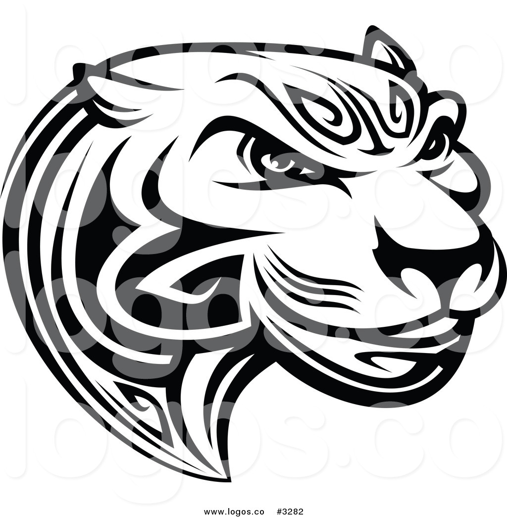 Black and White Tiger Logo.