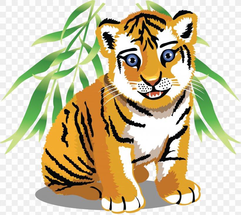 Tiger Baby Jungle Animals Cartoon Clip Art, PNG, 4940x4407px.