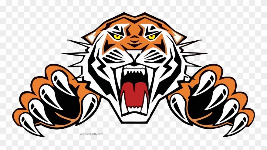 Tiiger Clipart Roaring Tiger.