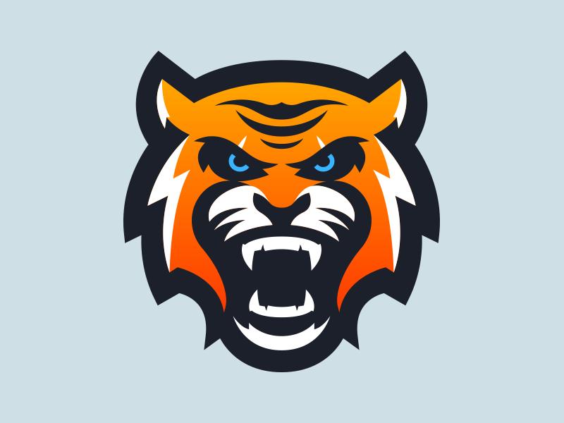 Tiger Mascot Logo Design.