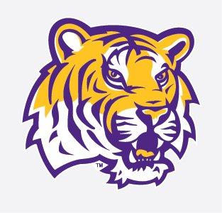 LSU Tigers TIGER HEAD Mascot Logo 4\