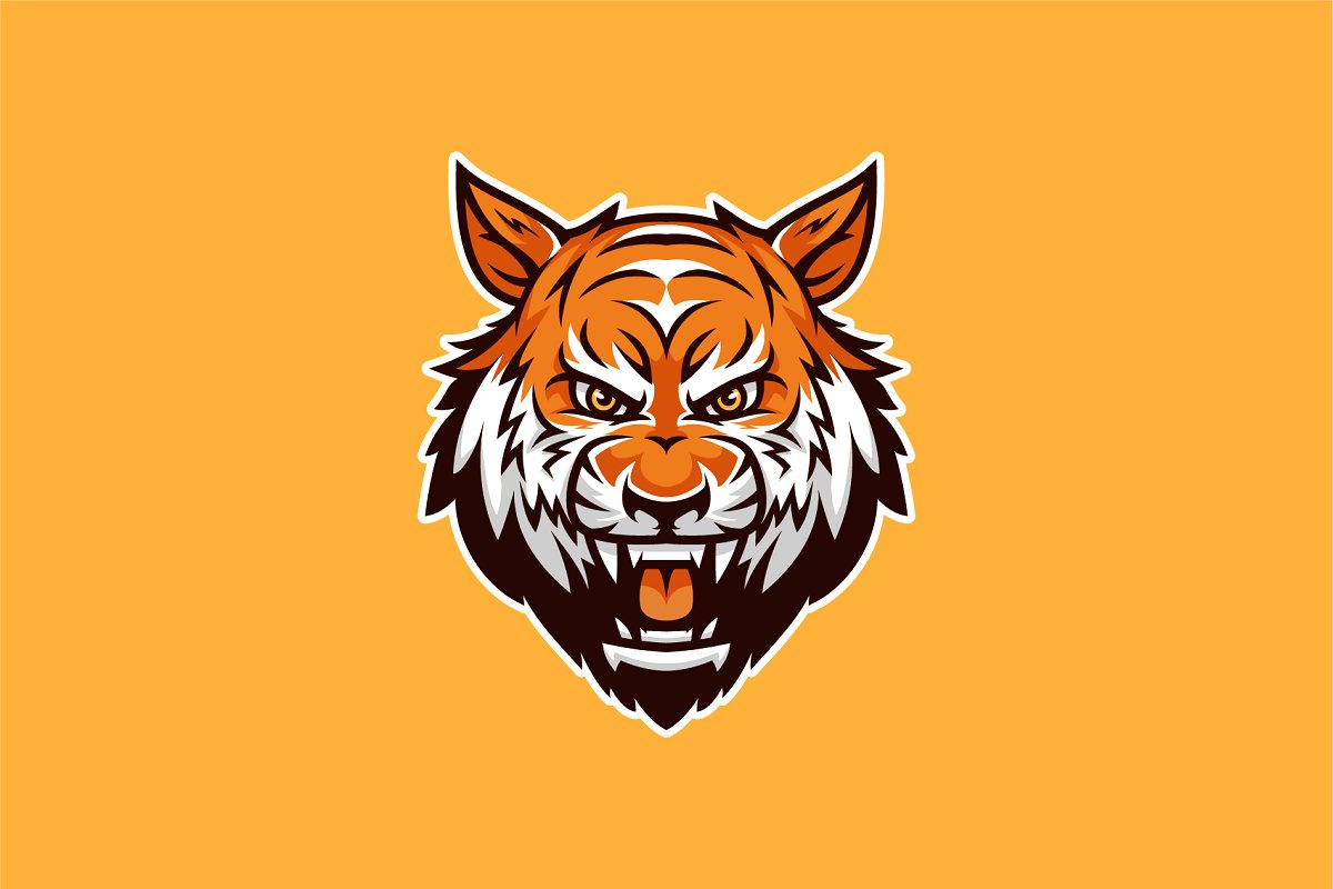 Tiger Head Mascot & Esport Logo.