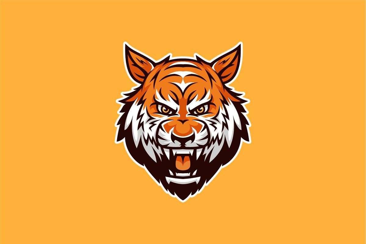 Tiger Head Mascot & Esport Logo.