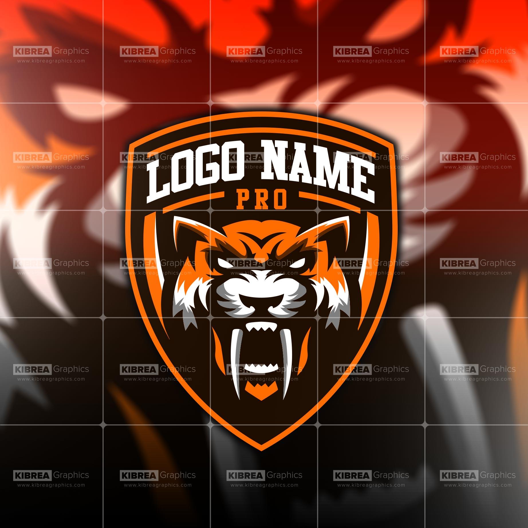Tiger Face Mascot Logo.