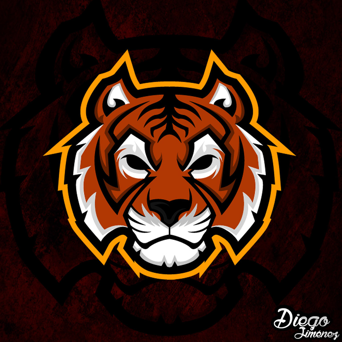 For sale,Tiger Mascot Logo on Behance.
