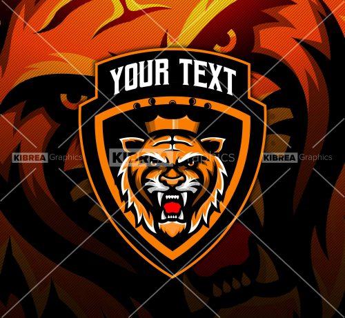 Tiger Esports Mascot Logo.