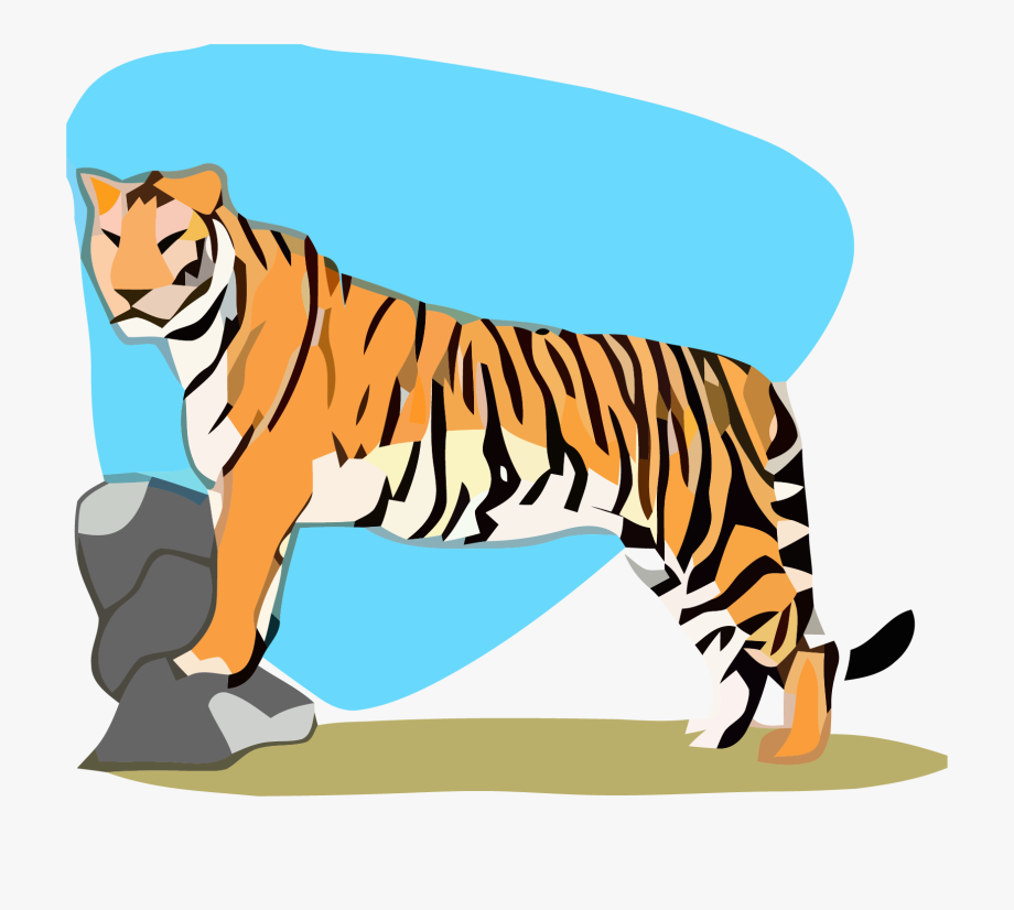 Tigger On Rocks Clipart Png Image Download.