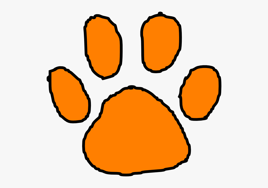 Svg Free Download Tiger Paw Print Clipart.