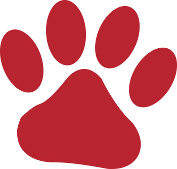 Tiger Paw Print Clipart.