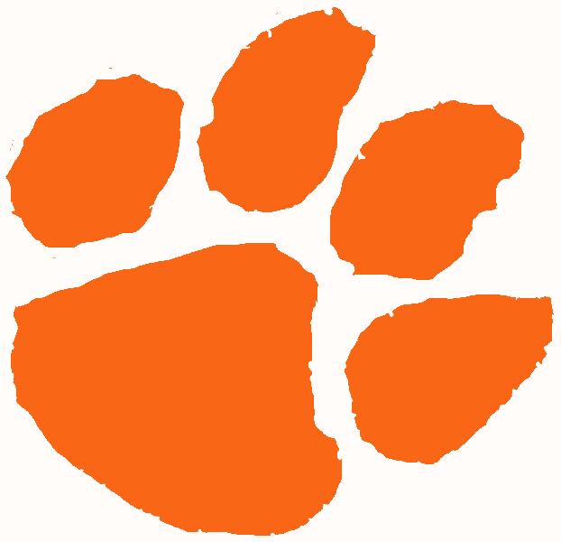 Clemson Tiger Paw Clip Art.