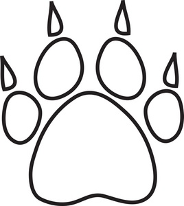 Tiger Paw Clipart Black And White.