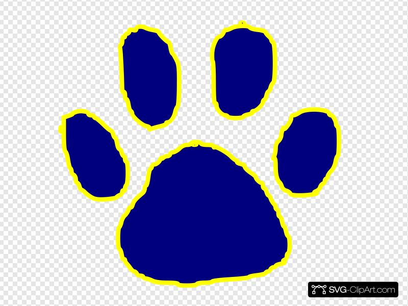 Tiger Paw Clip art, Icon and SVG.