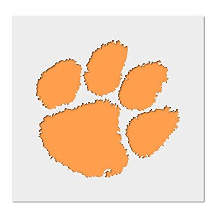 Clemson Tigers Paw Logo Stencil.