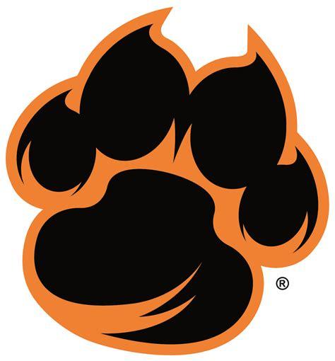 Tiger paw print Logos.