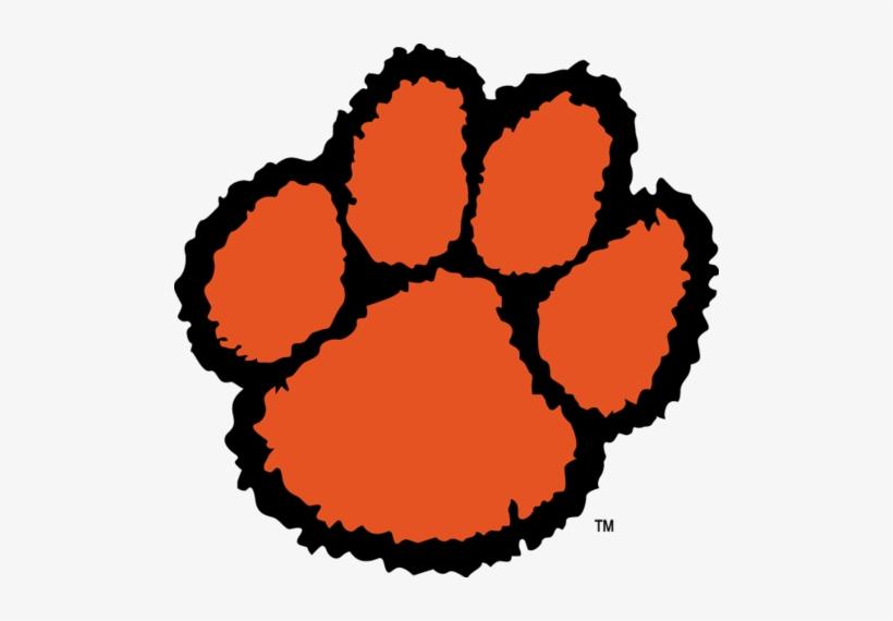 Orange And Black Tiger Paw Logo.