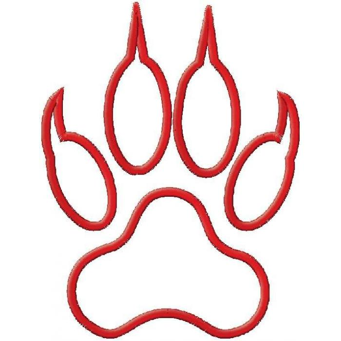 Free Tiger Paw Outline, Download Free Clip Art, Free Clip.
