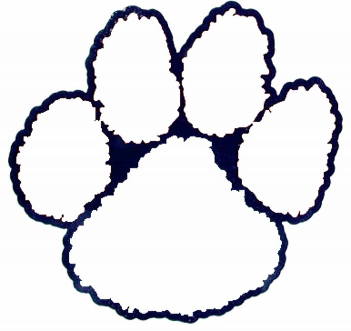 Paw Print Outline.