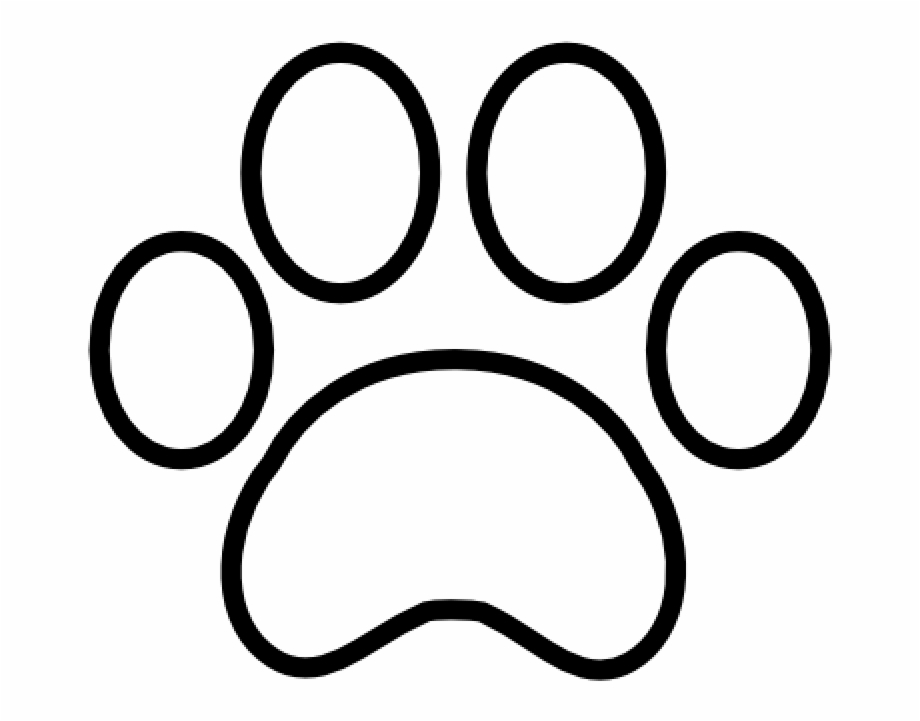 Tiger Paw Print Outline Paw Print Outline Png.