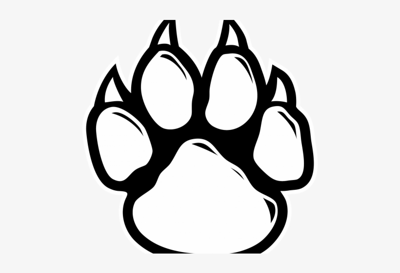 Tiger Paw Outline.