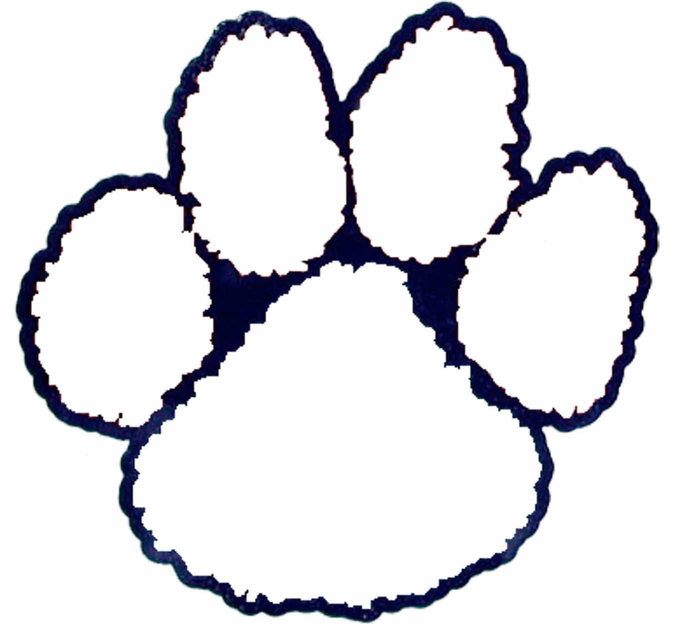 Tiger Paw Outline Free Download Clip Art.