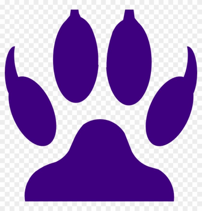 Purple Tiger Paw Purple Tiger Paw Tiger Claw Mark Stencil.
