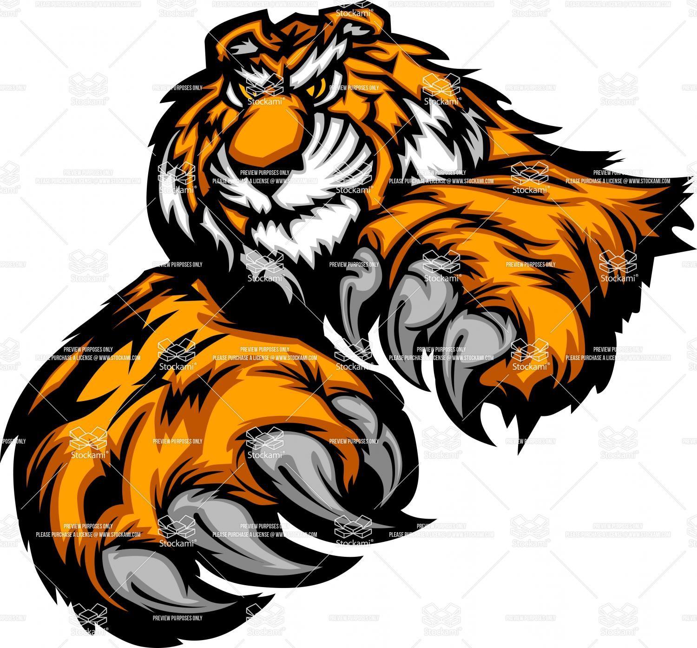 tiger mascot clipart.