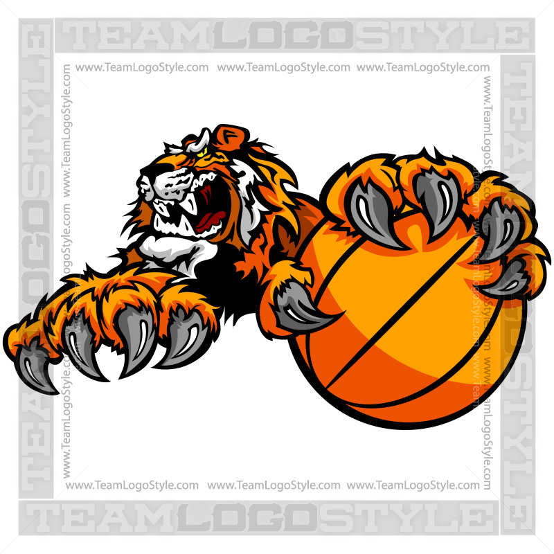 Tiger Basketball Team Logo.