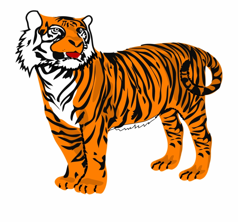 Clipart Picture Of A Tiger.