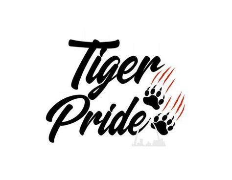 Tiger Pride Cut File Tiger svg Tiger Mascot Polka Dot svg.