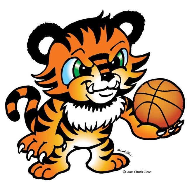 Tiger Basketball Clipart.