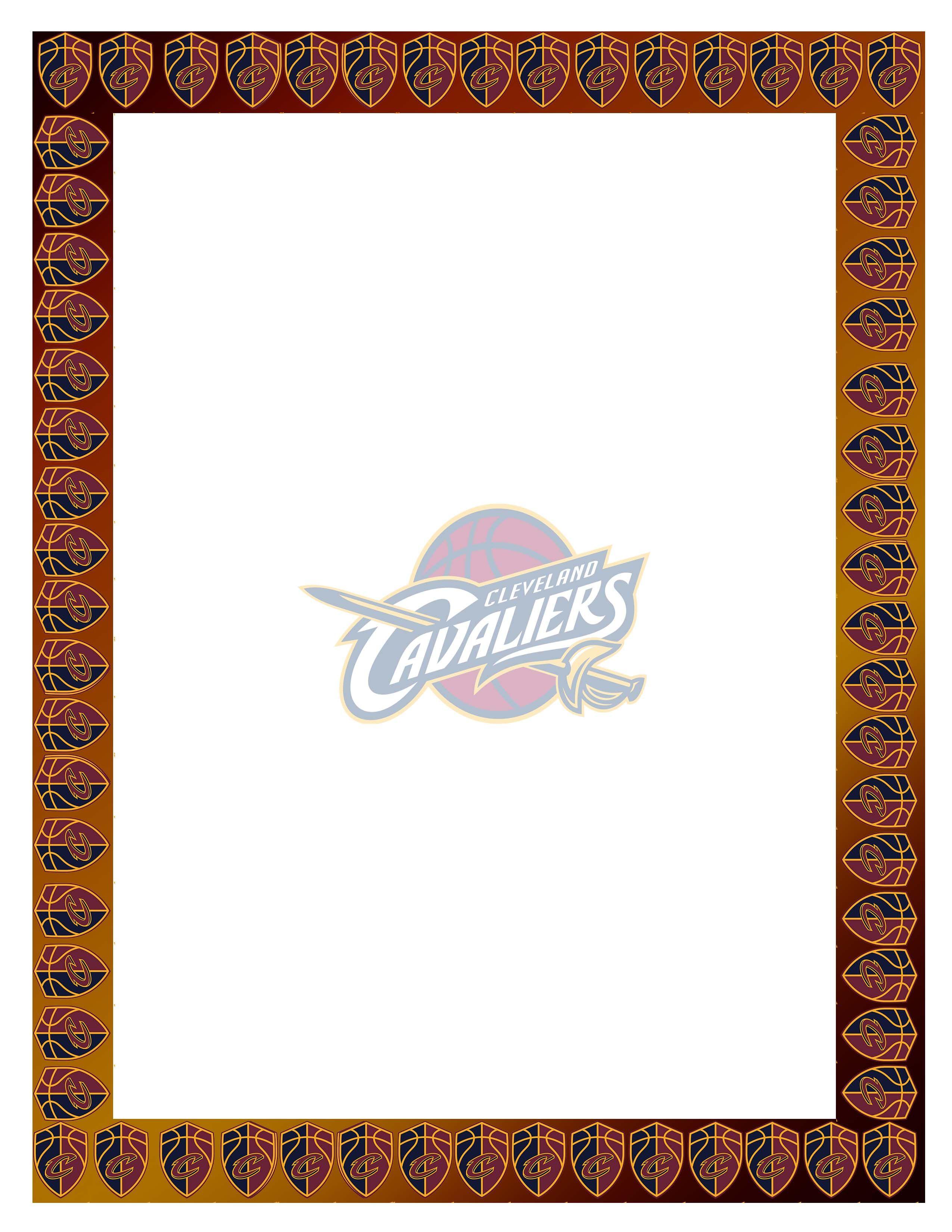 Basketball Cavaliers Border Design#011.