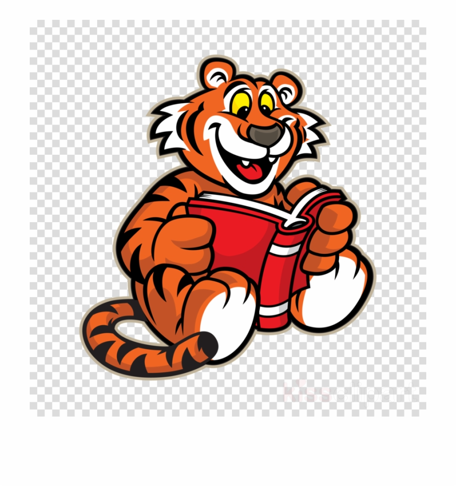 Tiger Clipart Reading.