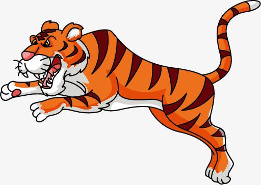Tiger Running Clipart.