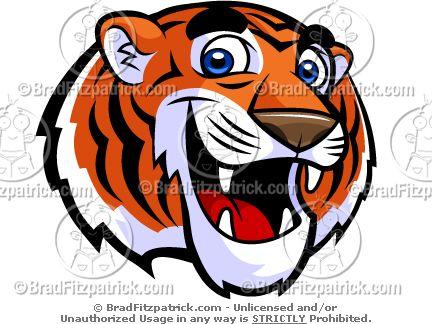Cute Tiger Mascot Clip Art!.