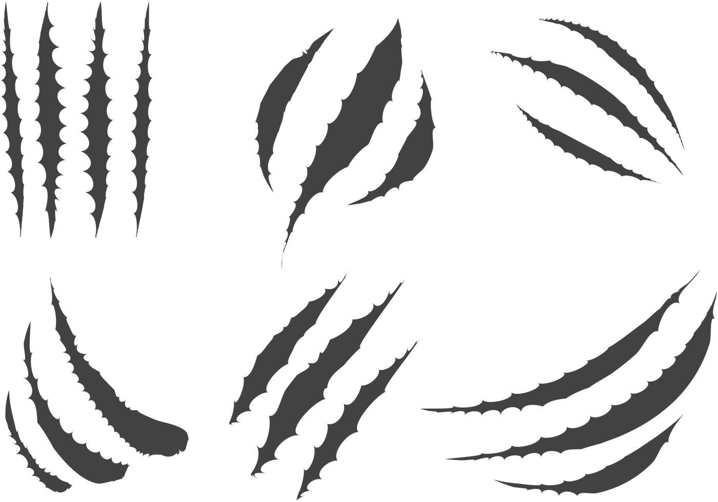 Tiger Scratch Vector.
