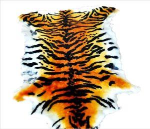 Details about Luxury Tiger Skin Print Rug Blanket Genuine Australian  Sheepskin Wool Rug Carpet.