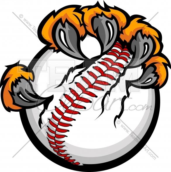 Tiger Claws Baseball Clipart and More Baseball Mascots..