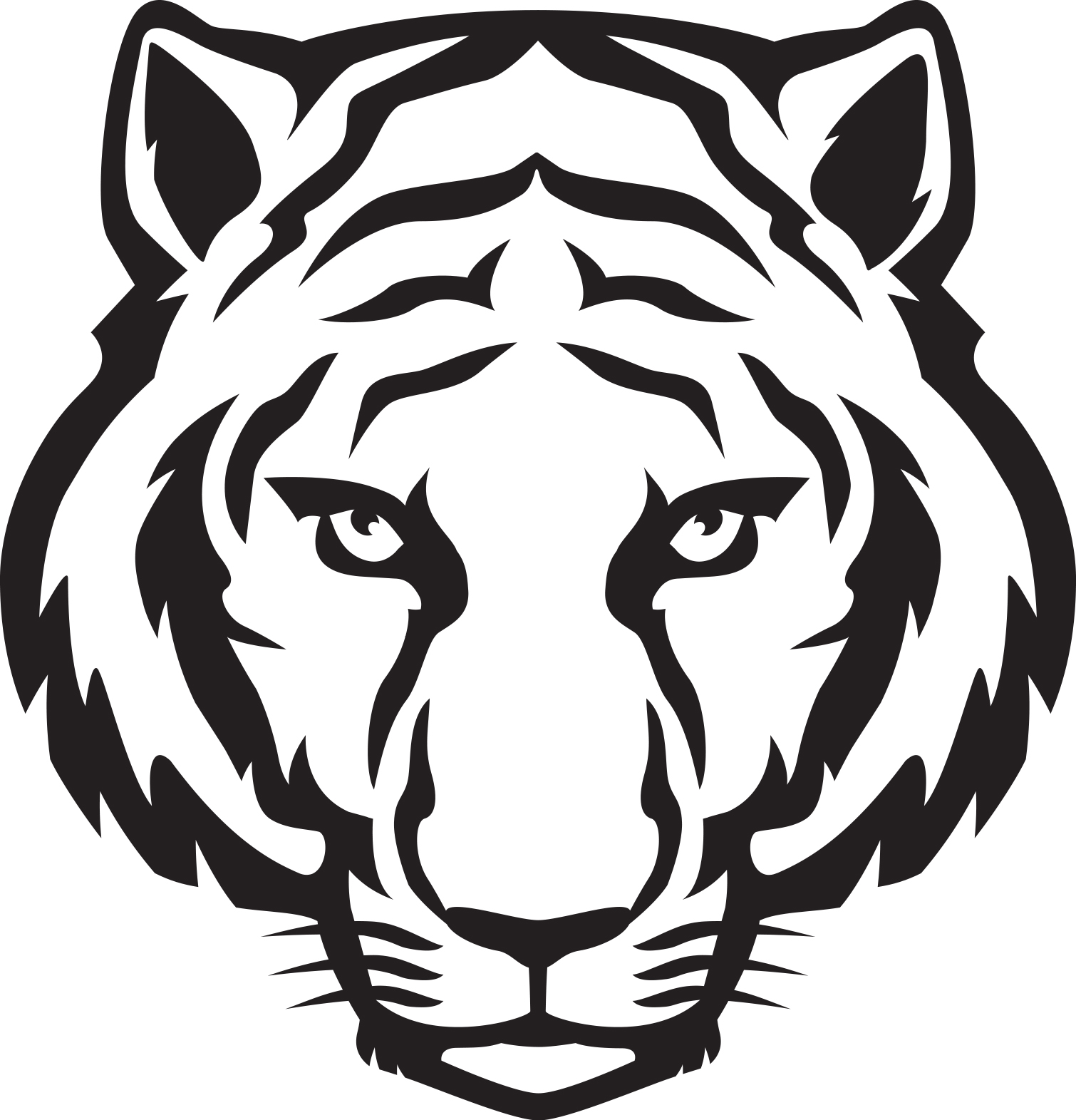 Tiger Clipart Black And White & Tiger Black And White Clip Art.